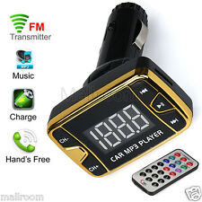 MP3 Player Wireless FM Transmitter Modulator Auto Kit USB SD TF MMC LCD Remote