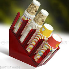 Paper Cup Lid Holder Dispenser Caddy Counter Coffee Drink Stand Home Wedding