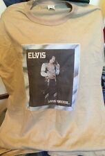 Vintage 70s ELVIS PRESLEY LIVES FOREVER 50/50% Cotton/Poly Thin T Shirt. Size L