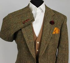 Harris Tweed Blazer WINDOWPANE WEDDING paese 44R splendido indumento 120