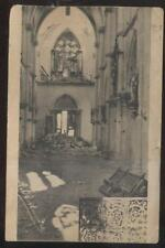 Postcard BAR-LE-DUC FRANCE  WWI Church Bomb Disaster view 1910's