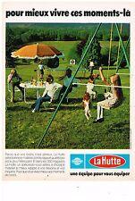 PUBLICITE ADVERTISING  054  1978  LA HUTTE    INTERSPORT  BALANCOIRES