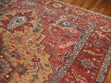 Antique Decorative Persian Karajeh Heriz Serapi Rug Size 11'8''x15'3''