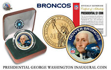 DENVER BRONCOS NFL USA Mint PRESIDENTIAL Dollar Coin-IN VELVET BOX AND COA*NEW*