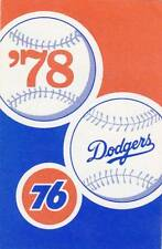 1978 LOS ANGELES DODGERS UNION 76 BASEBALL POCKET SCHEDULE