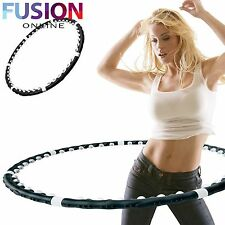 HULA HOOP HOOLA MAGNETIC FITNESS EXERCISE MASSAGE WEIGHTED DANCE AB WORKOUT GYM