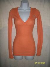 Woman's Hollister Orange L/S Tee Size S