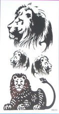 King Horse Lion Non Glitter Temporary Tattoos #HM359 New Arrival!