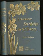Flora incursions sur la riviera 1904 prof. strasburger 2. A. 87 colorée fig.