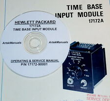 HP 17172A Time Base Input Module:Ops & service manual (good schematics)