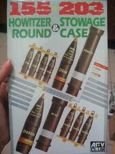 Afv club 1/35 155mm 203mm Howitzer Round & Stowage case  WWII & post war