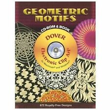 Geometric Motifs CD-ROM and Book (Dover Electronic Clip Art) by Wil Stegenga