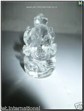 Crystal Quartz Lord Ganesha Antique Altar Handcrafted Hindu Gemstone Religious