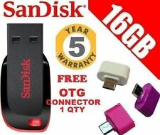 Sandisk 16GB Cruzer Blade Pendrive 16 GB + 5 Yrs Warnty WITH  FREE OTG CONNECTOR