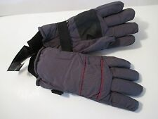 NWT HOT STEPS POLAR HEAT INSULATED Gray Red SKI GLOVES~SZ L~FREE SHIPPING!!
