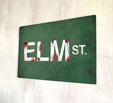 Nightmare on Elm Street Blood splats sign A4 metal plaque decor
