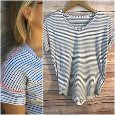 ❤Veuc Lululemon Short Sleeve Top Parallel Striped White 4 6 Small Yoga Speed