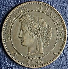 1896 France 10 Centimes Coin * Higher Grade