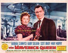 "7 Barbara Stanwyck Barry Sullivan Maverick Queen Orig 11x14"" Lobby Cards LC202"