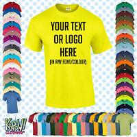 Custom Personalised Men's Printed T-SHIRT Name Funny Gift Work-Your text/logo 3