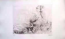 HANS BELLMER Hand Signed in pencil Etching LES MILLES EN FUE Nude Women original