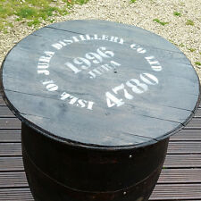 Rustic Solid Oak Recycled Isle of Jura Whisky Barrel Pub Table