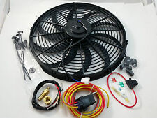 "16"" Heavy Duty Electric Fan 3000 CFM  W/ 30 Amp Relay SBC BBC Ford Mopar Rat Rod"