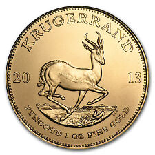 2013 1 oz Gold South African Krugerrand Coin - Brilliant Uncirculated -SKU#71267