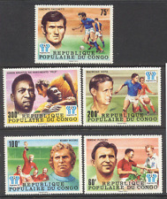 Congo 1978 Football/WC/Sport/Soccer/Pele 5v set (s170)