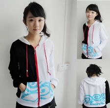 Anime Gintama Sakata Gintoki Thin Jacket Hooded Sweatshirt Cosplay Hoodie