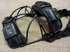 Vintage Wire & Leather Baseball Catchers Mask   Antique Old Ball Equipment 8218