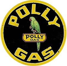 Polly Gas round steel sign    360mm diameter (pst)