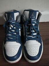 WOMENS NIKE AIR JORDAN III 3 RETRO BLUE WHITE GREY TRAINERS UK6/40- Worn Twice
