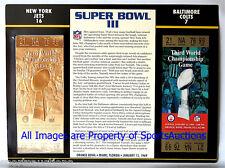 NEW YORK JETS vs COLTS ~ Willabee & Ward 22KT GOLD SUPER BOWL 3 TICKET ~ SB III