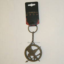 The World of the Hunger Games Mockingjay Metal Keychain Key Ring Key Chain NEW
