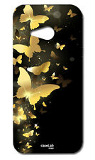 CUSTODIA COVER CASE FARFALLE DORATE GOLD PER HTC ONE M7
