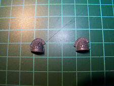 2 Space Marine Command Squad Deathwatch Shoulder Pads (bits)