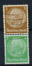 Germany Third Reich 1933, 3pf, 5pf Hindenburg Used Pair #A65875