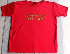 T SHIRT Strangers have the Best Candy FUNNY UNISEX RED RETRO VINTAGE TSHIRT