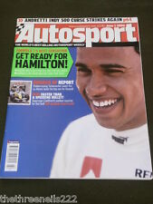 AUTOSPORT - F1's NEXT SENSATION HAMILTON - JUNE 1 2006