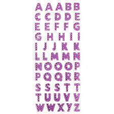 Glitter Crystals 26 Alphabet Letters Stickers Self Adhesive Words Stick On Cute