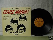 The Liverpools LP Beatle Mania In The USA Nice 1964 Stereo Orig! The Beatles