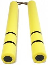New Nunchaku Bruce Lee Yellow Rubber microfiber cloth includedFRM Japan F/S J787