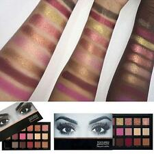 18 Colors Profession Eyeshadow Rose Gold Textured Pallete Faced Matte Make up