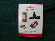 """Wizard of Oz """"Out of Time in Oz"""" Limited Hallmark Ornament 2013 Ruby Slippers"""