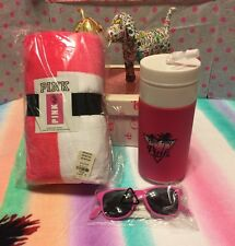 Victoria's Secret PINK  Beach Towel & Water Bottle & Bottle Opener Sunglasses