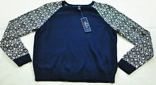 women's CHAP'S navy & white sweater size large MSRP $69 raglan sleeve brand new
