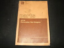 CAT CATERPILLAR 3516 GENERATOR ENGINE PARTS BOOK MANUAL S/N 25Z1-683
