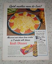 1954 ad page - Kraft Foods Macaroni & Cheese dinner -meatless menu for Lent- AD