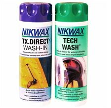 2 x NIKWAX WATERPROOFING KIT 600 ml TX.direct tech wash set water proof clothing